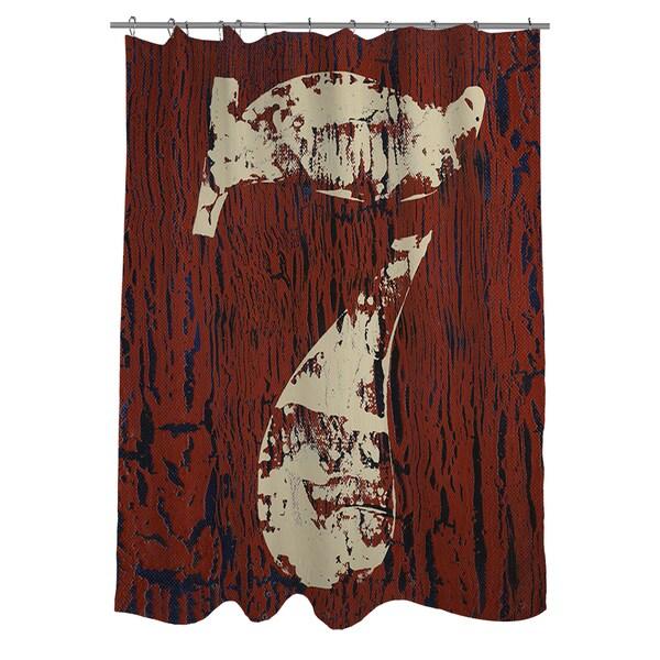 Vintage Number 7 Shower Curtain