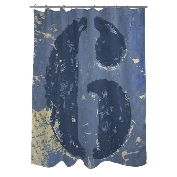 Vintage Number 6 Shower Curtain