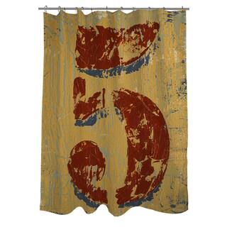 Vintage Number 5 Shower Curtain