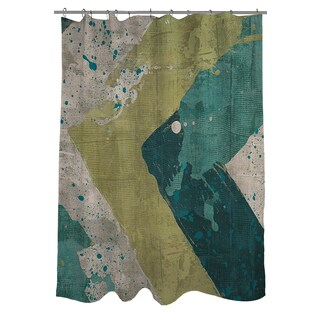 Green Splatter Shower Curtain