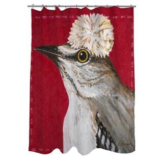 Thumbprintz You Silly Bird Gigi Shower Curtain