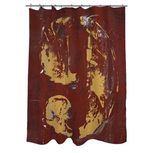 Vintage Number 9 Shower Curtain