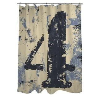Vintage Number 4 Shower Curtain