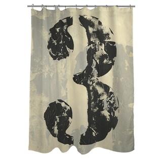 Vintage Numbers 3 Shower Curtain