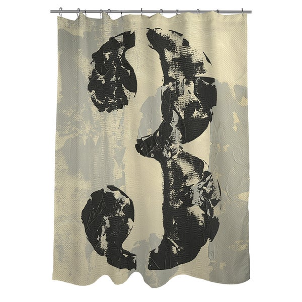 Vintage Numbers 3 Shower Curtain