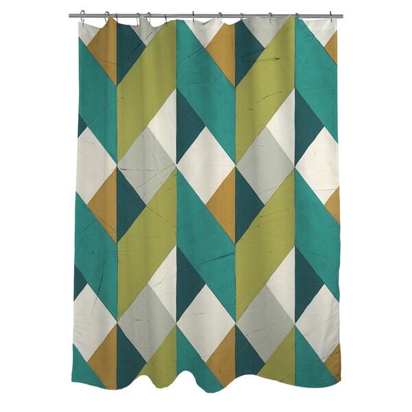 Shop Chevron Illusion II Shower Curtain