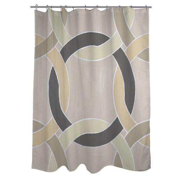 Non Embellished Deco Stitch I Shower Curtain