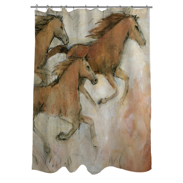 Shop Horse Fresco II Shower Curtain - On Sale - Free Shipping Today ...