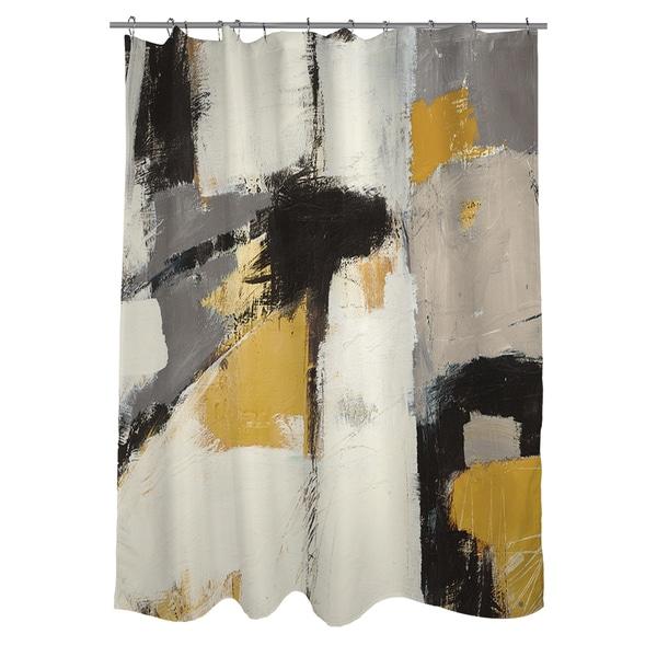 Yellow Catalina I Shower Curtain