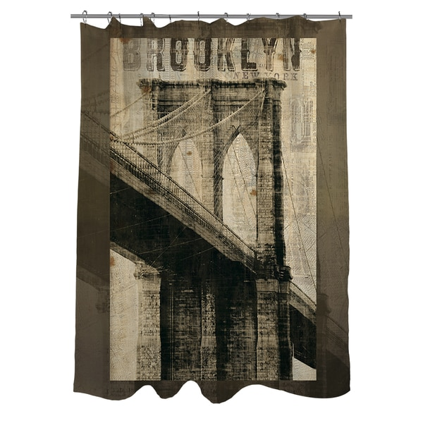 Vintage Ny Brooklyn Shower Curtain