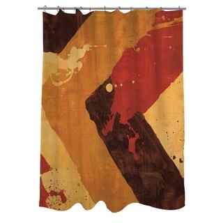 Splatter I Red Shower Curtain
