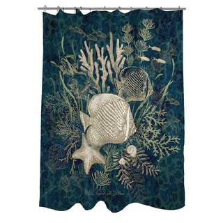 Thumbprintz Fish Vignette Shower Curtain