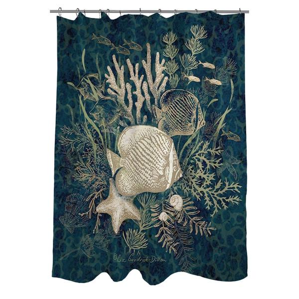 Fish Vignette Shower Curtain