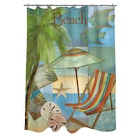 Beach Memories B Shower Curtain