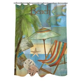 Beach Memories B Shower Curtain