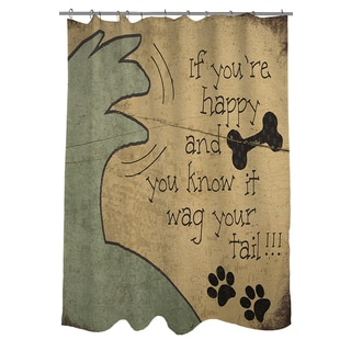 Thumbprintz Wag Your Tail Shower Curtain