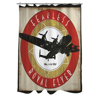 Vintage Airplane Shower Curtain