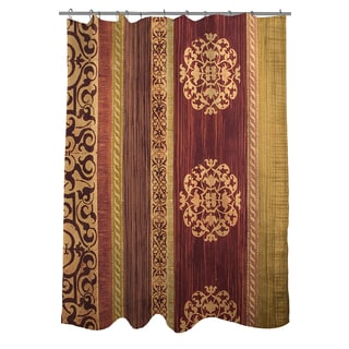 Addison Gold Maroon Shower Curtain Free Shipping On