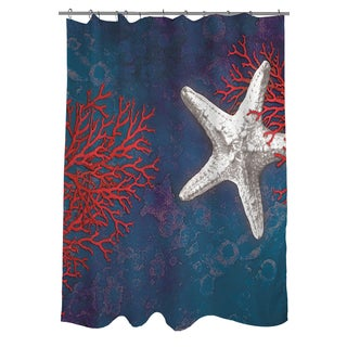 Thumbprintz Seastar Bay Starfish Shower Curtain