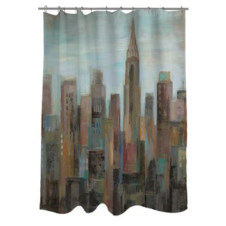Thumbprintz Cityscape at Dawn Shower Curtain