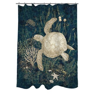 Shop Sea Turtle Vignette Shower Curtain Free Shipping