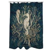 Sea Horse Vignette Shower Curtain