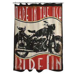 Vintage Motorcycle Shower Curtain