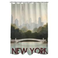 City Skyline New York Shower Curtain