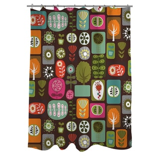 Thumbprintz Trees and Flowers Shower Curtain