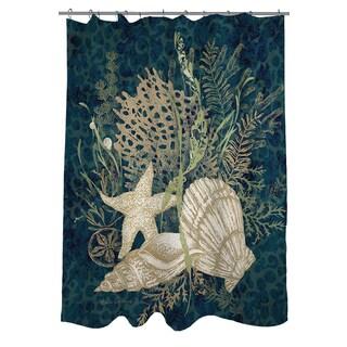 Sea Shells Vignette Shower Curtain