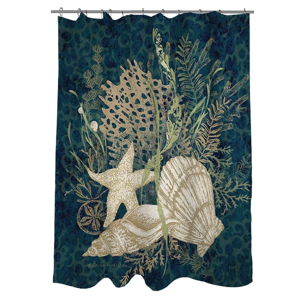 Sea Shells Vignette Shower Curtain