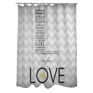 L is for Love Shower Curtain