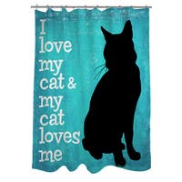 I Love My Cat Shower Curtain