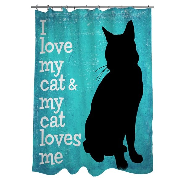 Shop I Love My Cat Shower Curtain - On Sale - Free Shipping Today ...