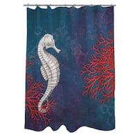 Seastar Bay Seahorse Shower Curtain