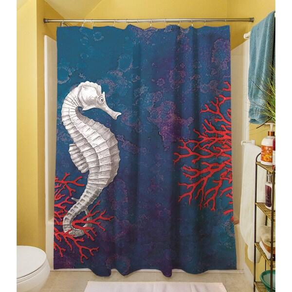 seastar bay seahorse shower curtain free shipping today