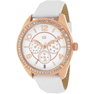 Tommy Hilfiger Women's 1781251 Sport Chronograph White Leather Watch