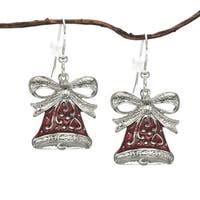 Handmade Jewelry by Dawn Red Bell Holiday Earrings (USA)