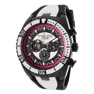 Mulco Men's 'Titans' Black Ion-plated Stainless Steel Watch