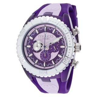 Mulco Men's 'Titans' Stainless Steel Purple Silicone Watch