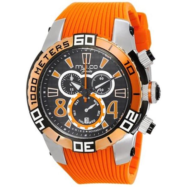 Mulco Men's 'Fondo' Chronograph Orange Silicone Watch. Opens flyout.