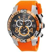 Mulco Men's 'Fondo' Chronograph Orange Silicone Watch