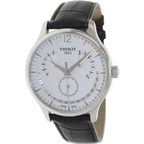 Tissot Men's T0636371603700 'Tradition' Brown Leather Watch
