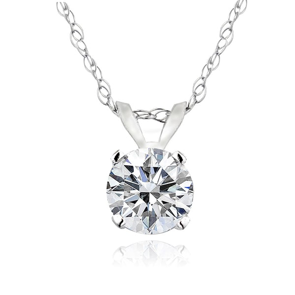 Db designs 14k gold 12ct tdw diamond solitaire necklace free db designs 14k gold 12ct tdw diamond solitaire necklace aloadofball Images