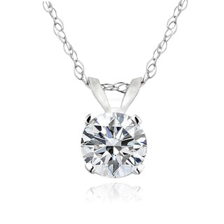 DB Designs 14k Gold 1/2ct TDW Diamond Solitaire Necklace