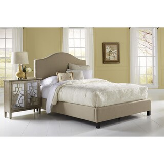 Beige Queen Size Upholstered Bed