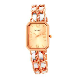 Vernier Women's Rose Goldtone Double Chain Inlay Status Octagon Watch|https://ak1.ostkcdn.com/images/products/9362135/P16554272.jpg?impolicy=medium