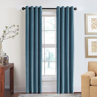 Grand Luxe Cotton Velvet Soft Luxury Grommet Top Curtain Panel