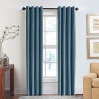 Grand Luxe Cotton Velvet Soft Luxury Grommet Top Curtain Panel