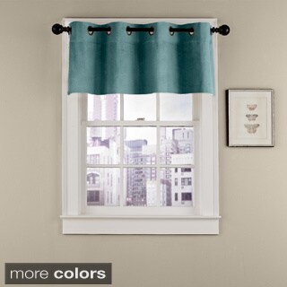 Grand Luxe Cotton Velvet Soft Luxury Grommet Window Valance